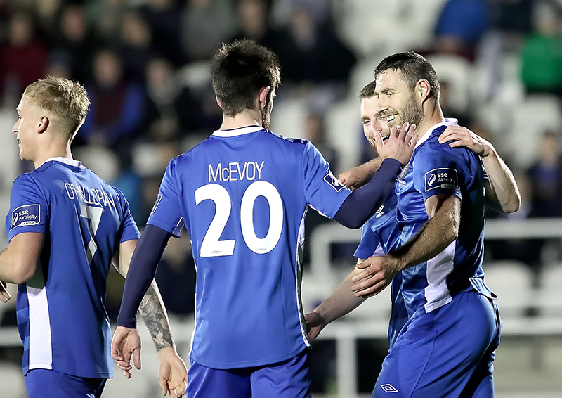 Blues celebrate goal (Credit: Noel Browne)