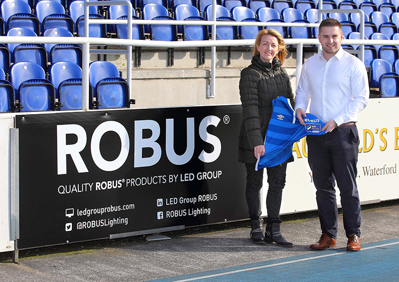 Waterford FC Robus Sleeve Sponsorship
